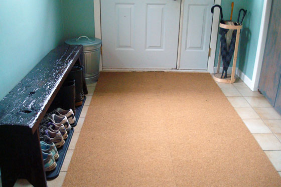 Homemade cocoa mat is a mudroom