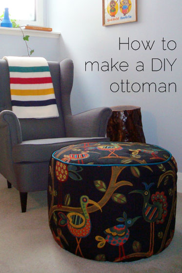 how to make a diy ottoman home on 129 acres. Black Bedroom Furniture Sets. Home Design Ideas