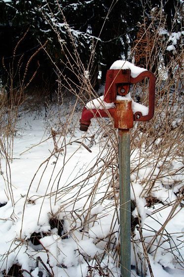 Snow capped water pump