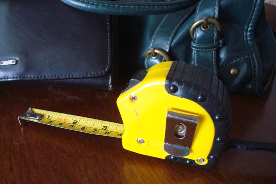 Carry a tape measure with you to size up furniture no matter where you are