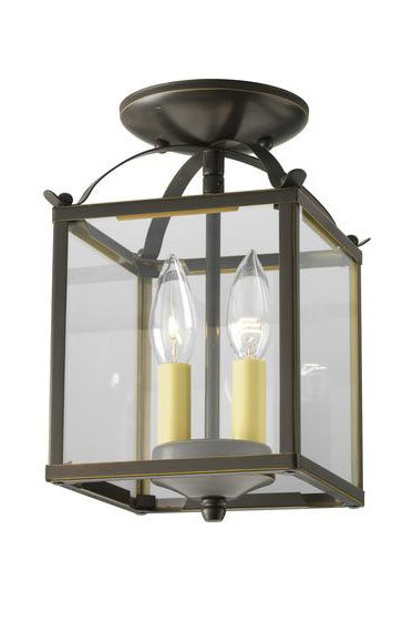 Progress Lighting Antique Bronze 2-light Semi-flushmount