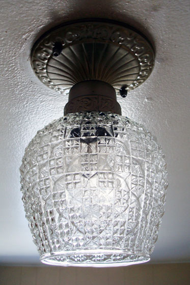 Cut glass light fixture