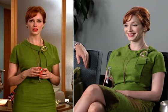 Joan's green dress