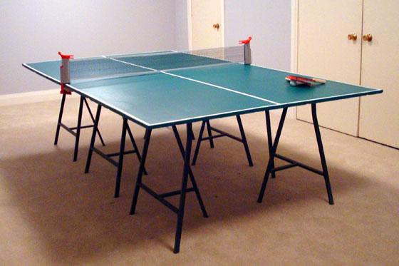 Refurbished pingpong table
