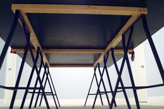 Frame for the underside of a pingpong table