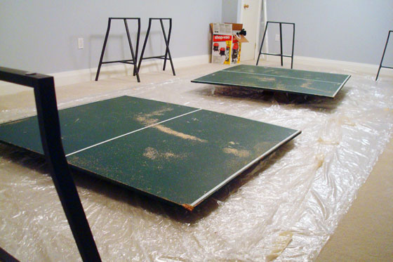 Ikea Lerberg legs for a pingpong table