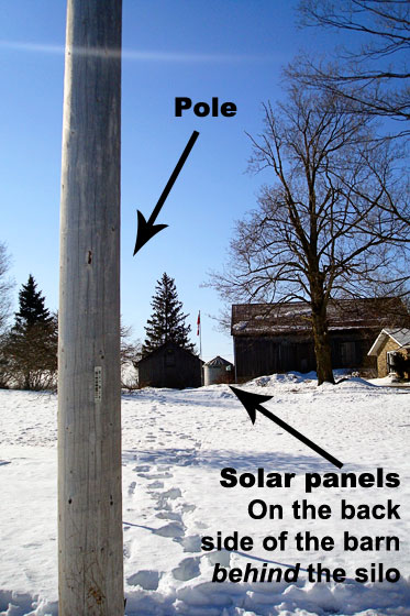Hydro pole for solar panel installation