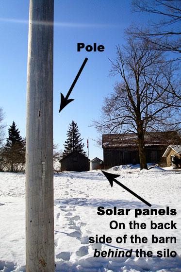 Hydro pole for solar panel installation