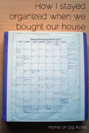 How I stayed organized when we bought our house