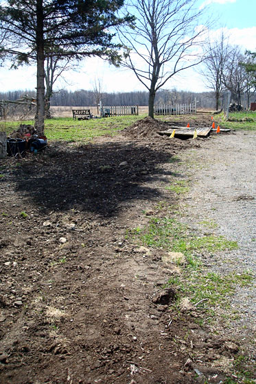 Trench that needs to be seeded for grass