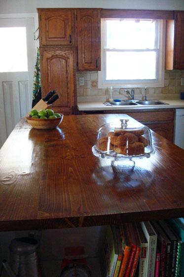 DIY wood countertop 1 year later