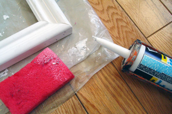 Wet your finger before smoothing out caulking