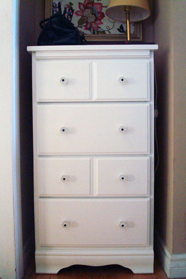 Tall and narrow DIY dresser