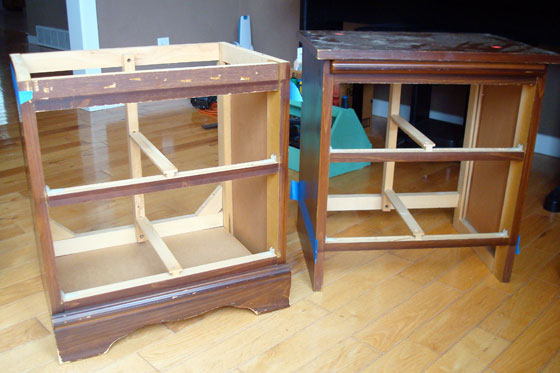 Dismantled night stands
