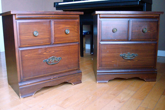 Two vintage night stands