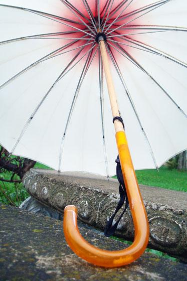 Vintage pagoda ombre umbrella