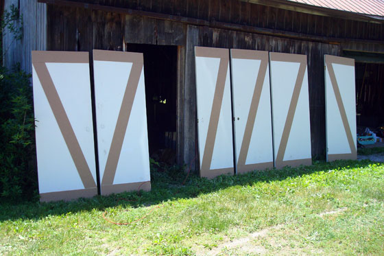 Making slab doors into barn doors