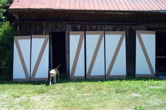 Making slab doors into barn doors