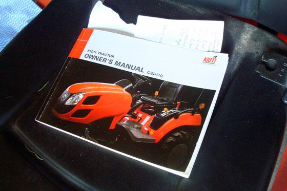 Kioti CS2410 manual