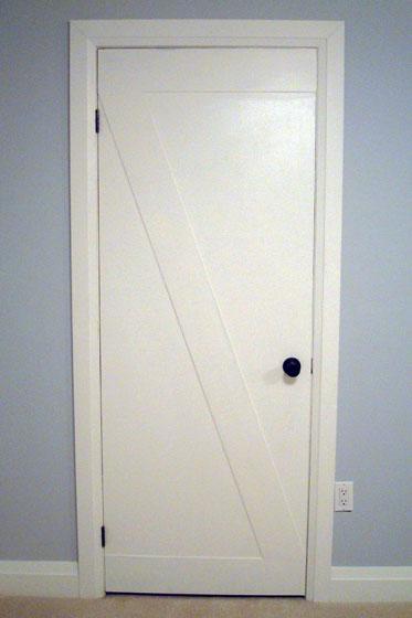 Slab doors become barn doors