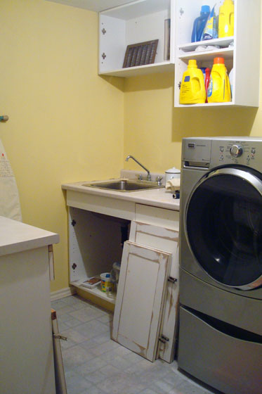 The beginning of the laundry room makeover