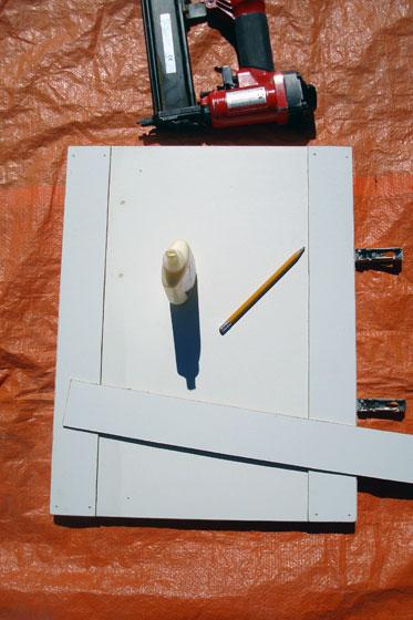Adding shaker trim to cabinet doors