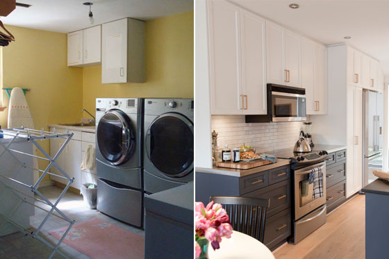 Laundry room before and inspiration