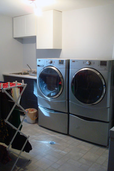 Laundry room in progress