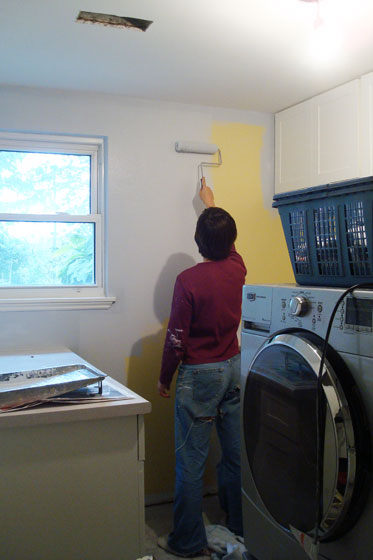 Painting the laundry room