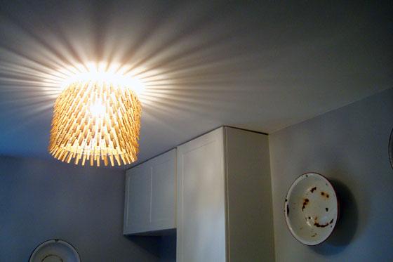 Clothespin light fixture