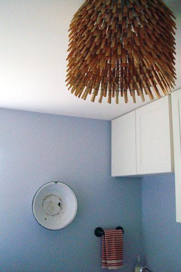 Clothespins light fixture
