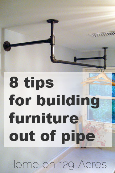 8 tips for building furniture out of pipe