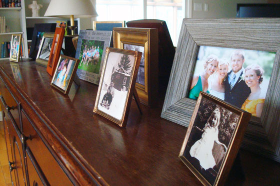 Family photo display
