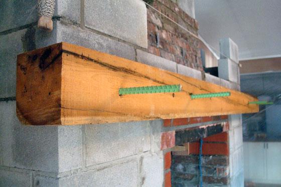 installing a barn beam mantel - Barn Beam Mantel