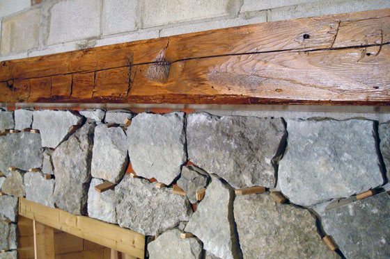 Barn wood mantel