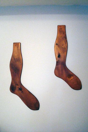 Vintage wooden sock stretchers