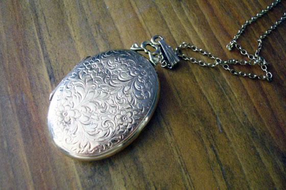 Antique gold locket