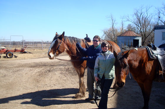 Matt and me with our horses