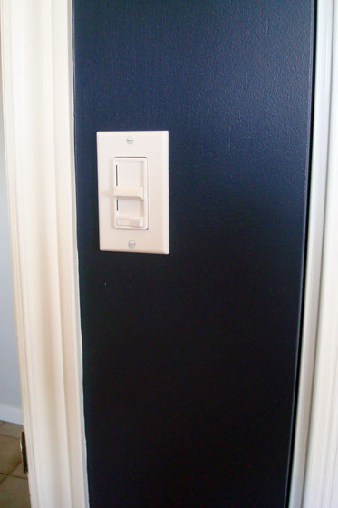 Bedroom light switch with a dimmer