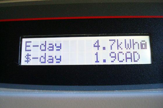 Solar panel inverter screen