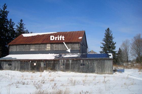 Snow on solar panels