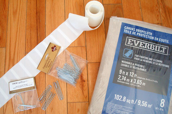 How to make dropcloth curtains