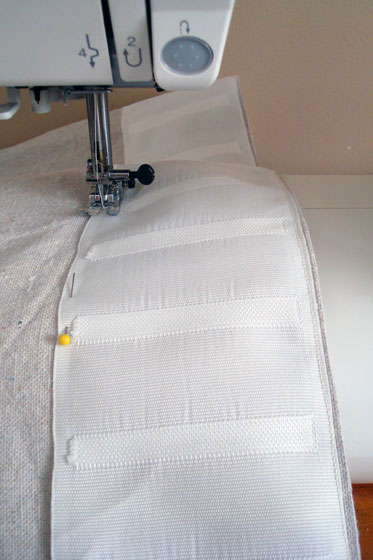 Using curtain tape to make pinch pleat curtains