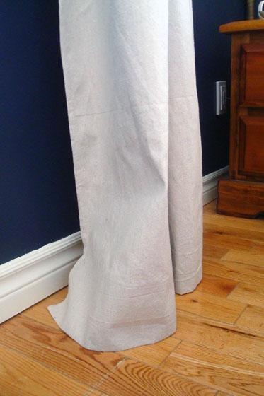 Curtains hitting the floor