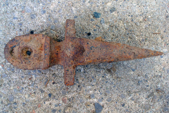 Rusted spike