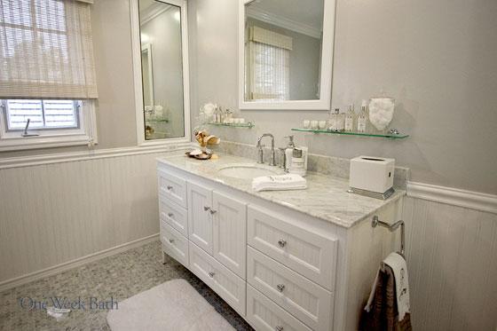Bathroom vanity with lots of drawers