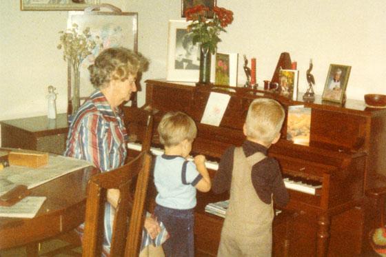 Matt's grandma with her piano