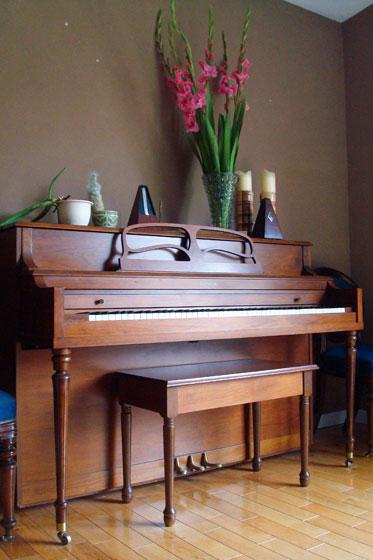 Matt's grandma's piano