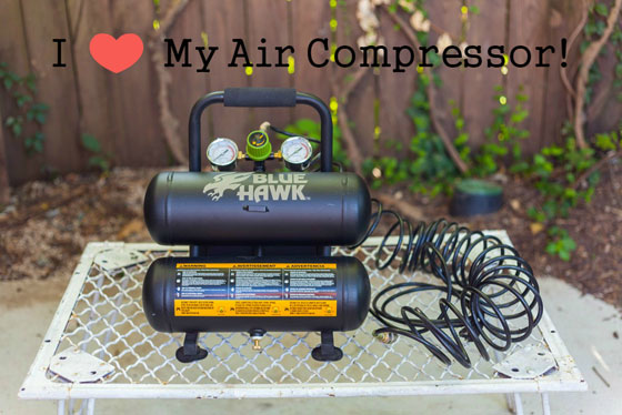 I love my air compressor (white dog vintage)