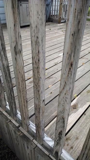 Deck railing before